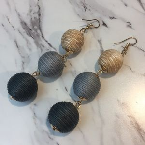 5 for $15 Ombré Thread Ball Earrings